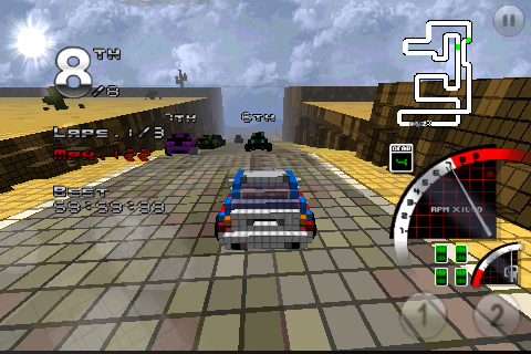 Screenshot 3D Pixel Racing All Contents Unlocked at Start